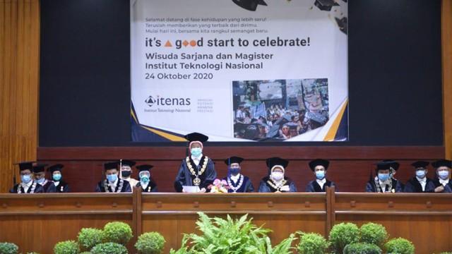Usung Konsep It's a Good Start to Celebrate, Itenas Bandung Wisuda 692 Lulusan Secara Virtual