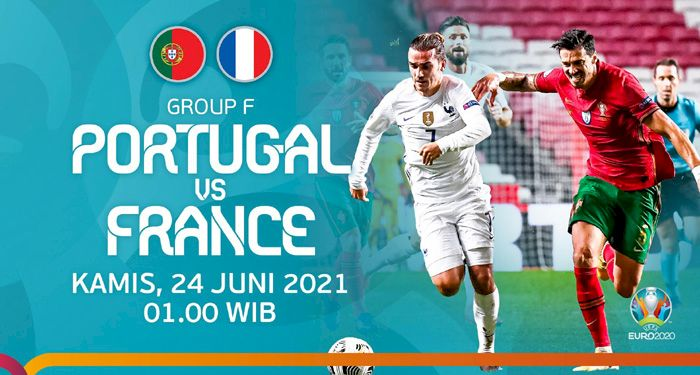 Cara Nonton Live Streaming Euro 2020 Prancis vs Portugal Tayang Kamis Dini Hari Nanti